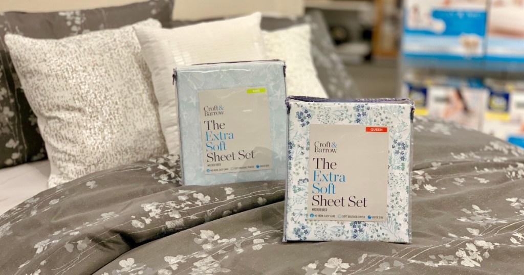 croft & barrow sheet sets on bed