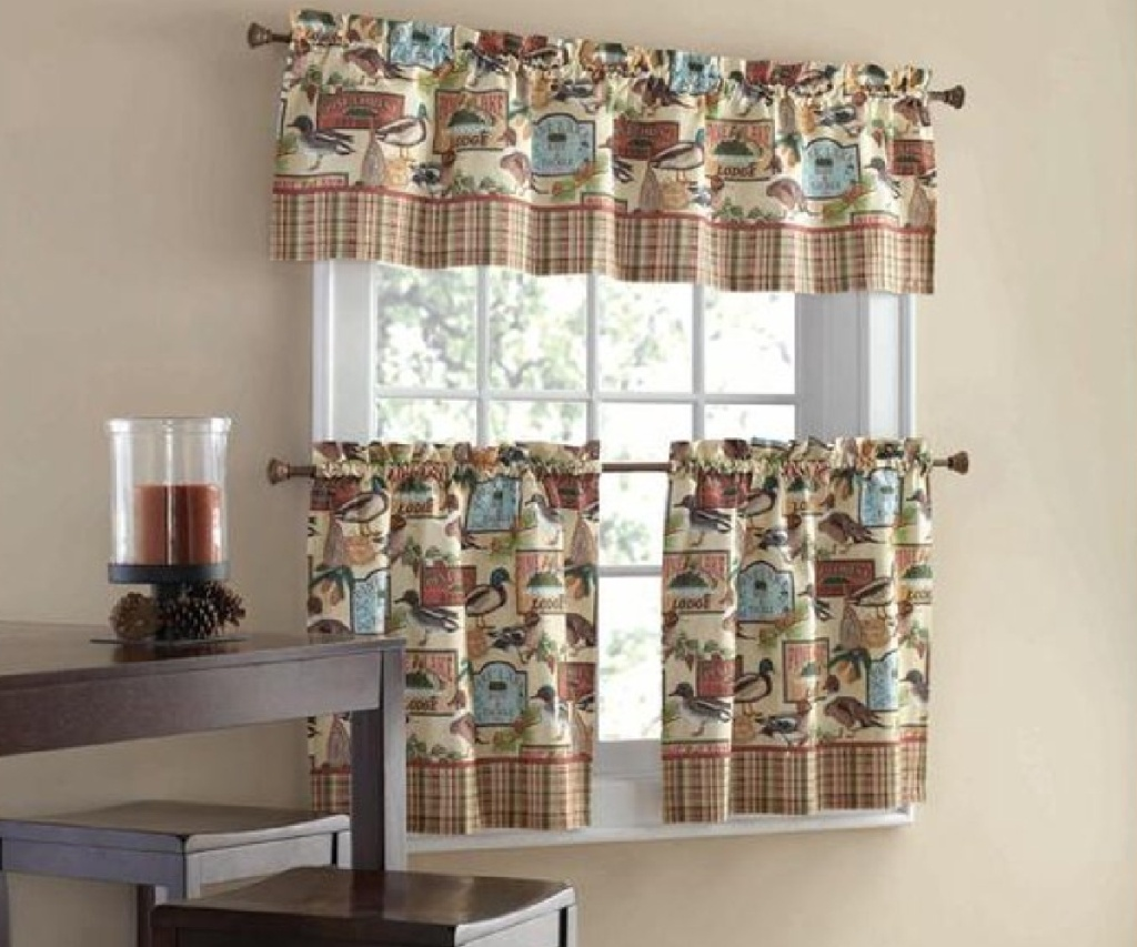 curtains and valence set on window