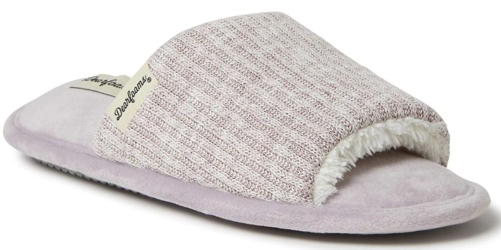 dearfoams womens slide slippers