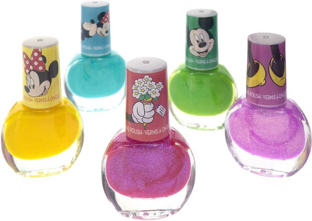 bottles of disney nail polish