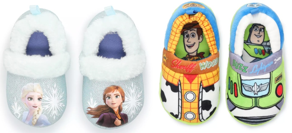disney slippers frozen and toy story