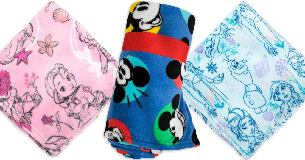 stock images of disney fleece blankets