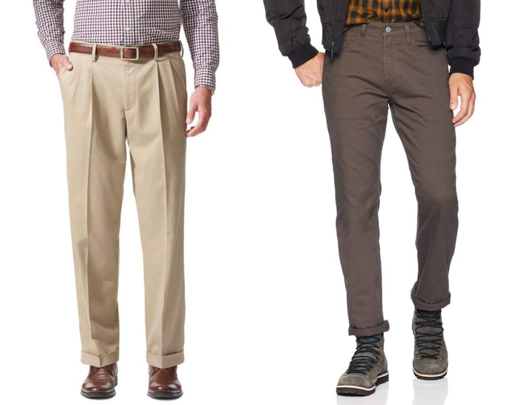 dockers pants khaki and brown