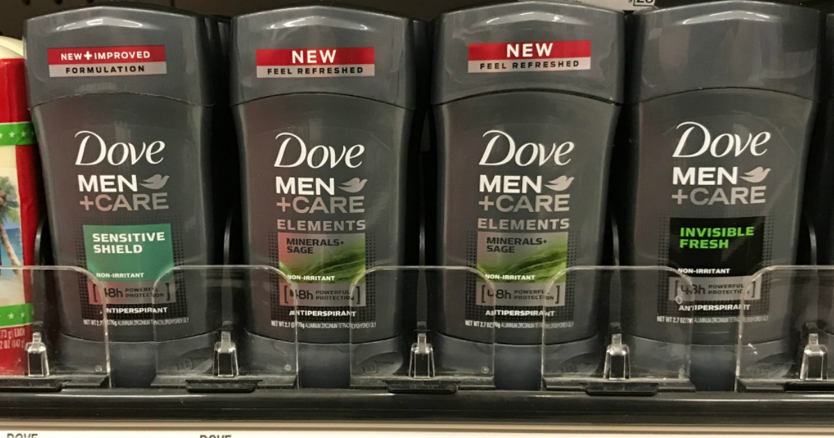 mens deodorant on a store shelf