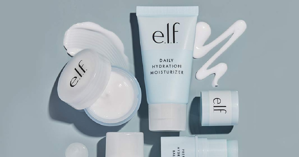 elf jet set hydration kit with products