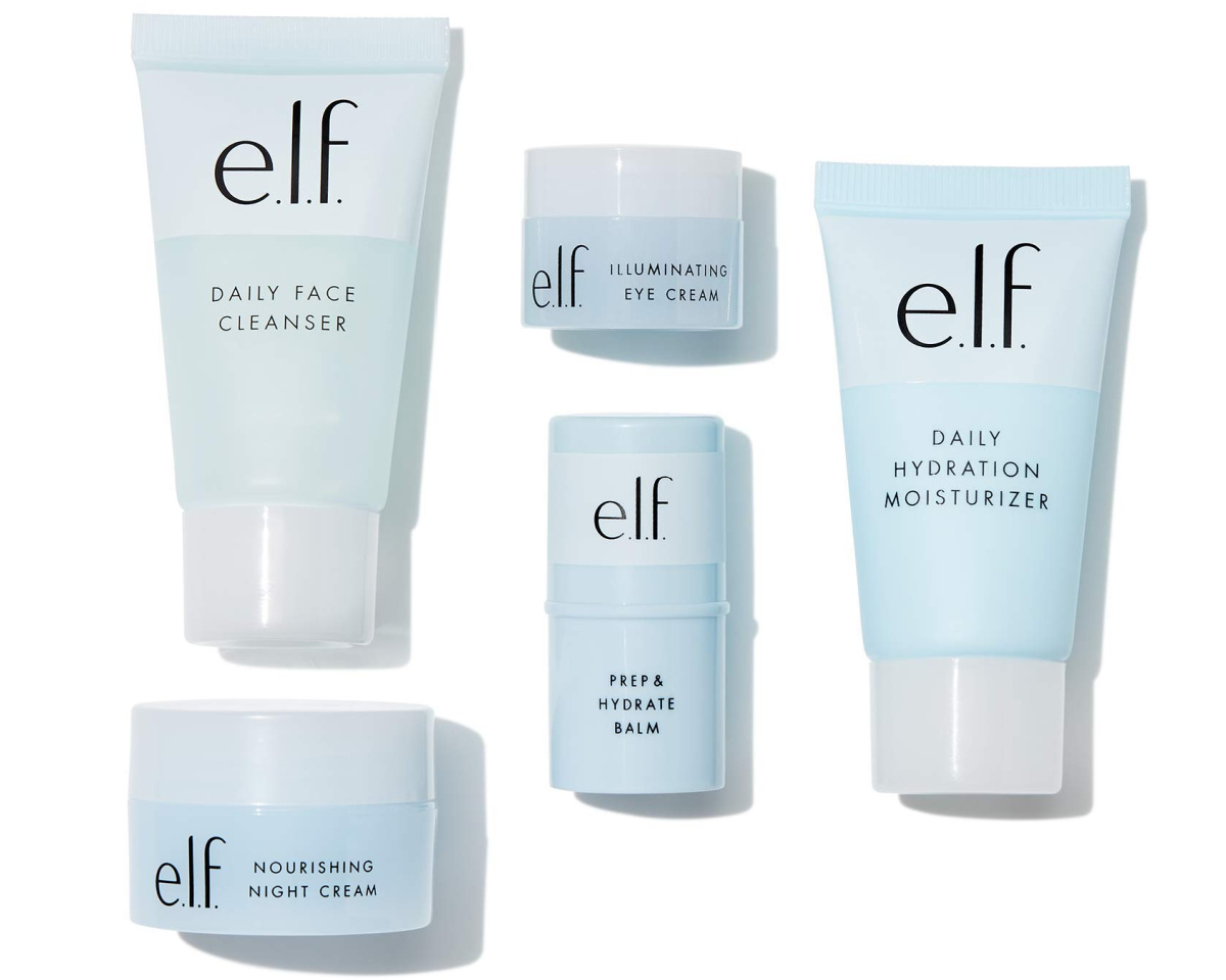 elf skincare set with all products shown
