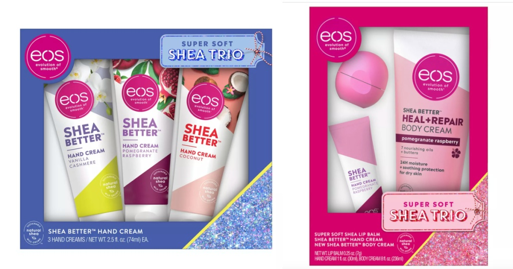 two eos holiday gift sets
