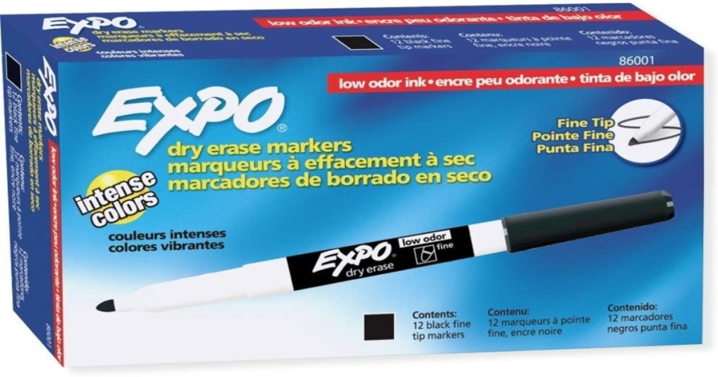 Box of Expo fine tip markers