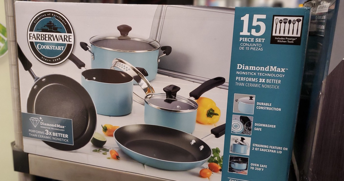 farberware pots and pans in box