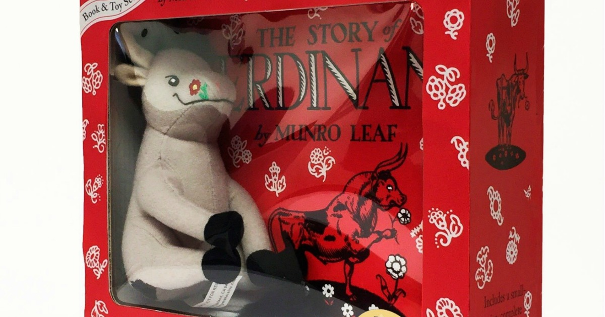 ferdinand plush toy and book set