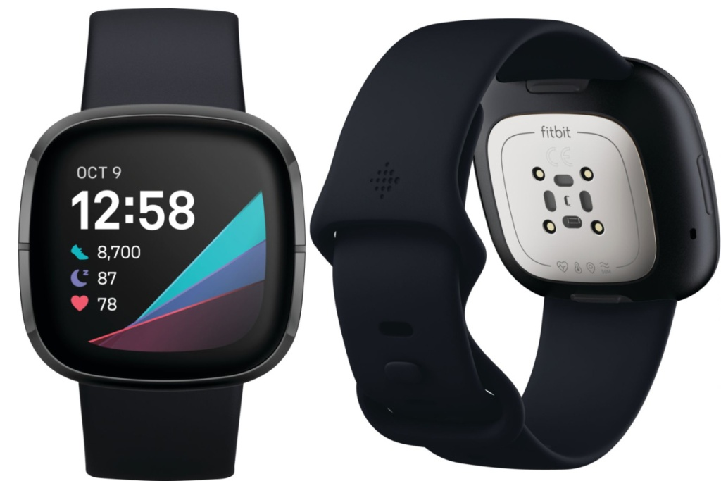 fitbit sense advanced front and back view