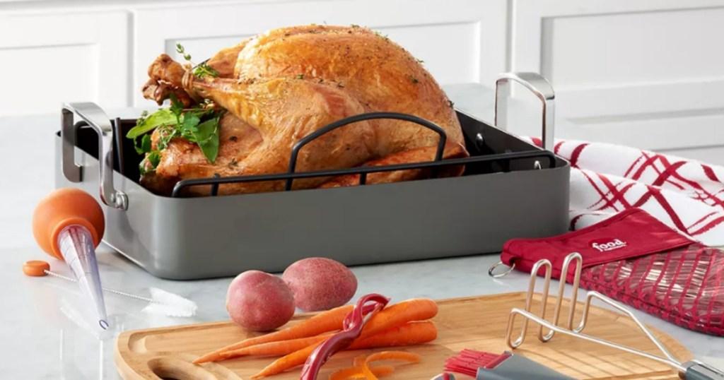 turkey in a roaster