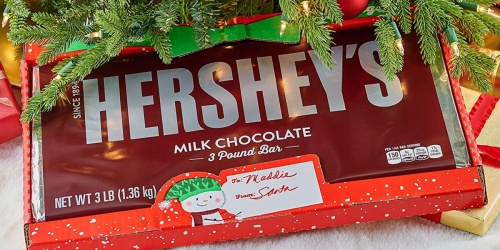 Giant Hershey's Holiday Chocolate 3-Pound Candy Bar Only $9.98 on Amazon