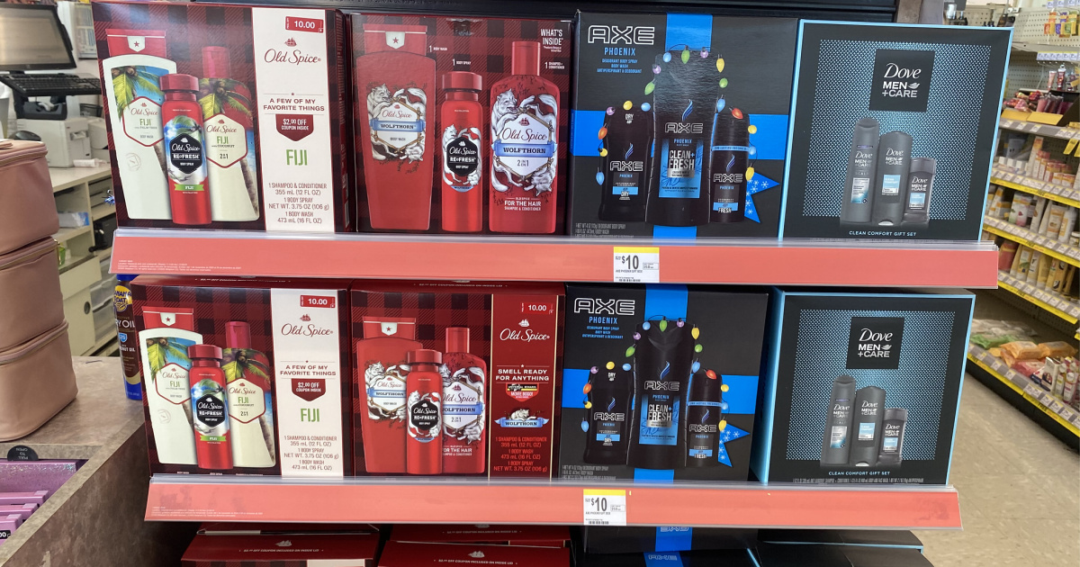 gift sets at walgreens in hand in store
