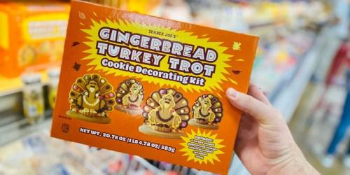 Gingerbread Turkey Cookies Decorating Kit Just $5.99 at Trader Joe's | Fun Thanksgiving Activity for Kiddos