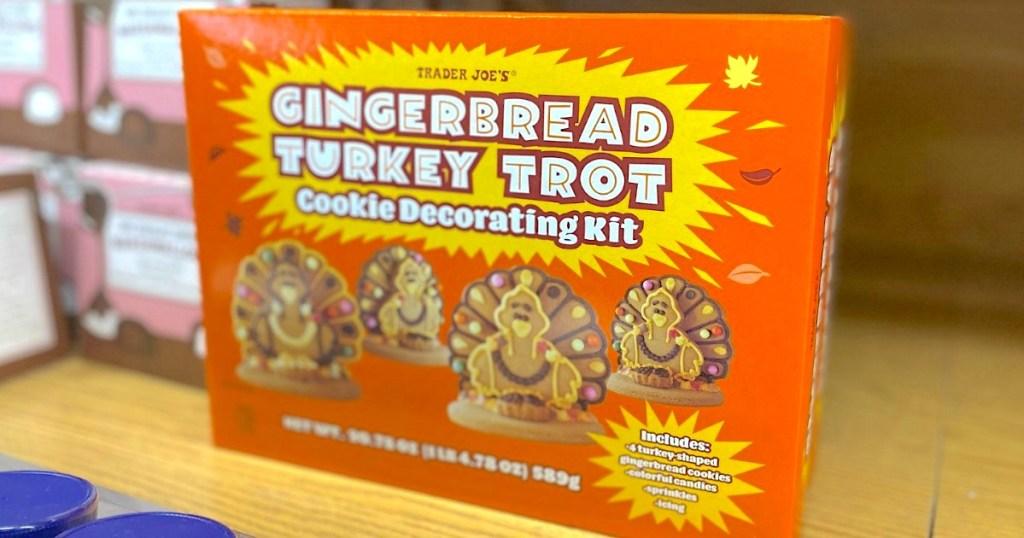 Trader Joe's Gingerbread Turkey Trot Cookie Decorating Kit