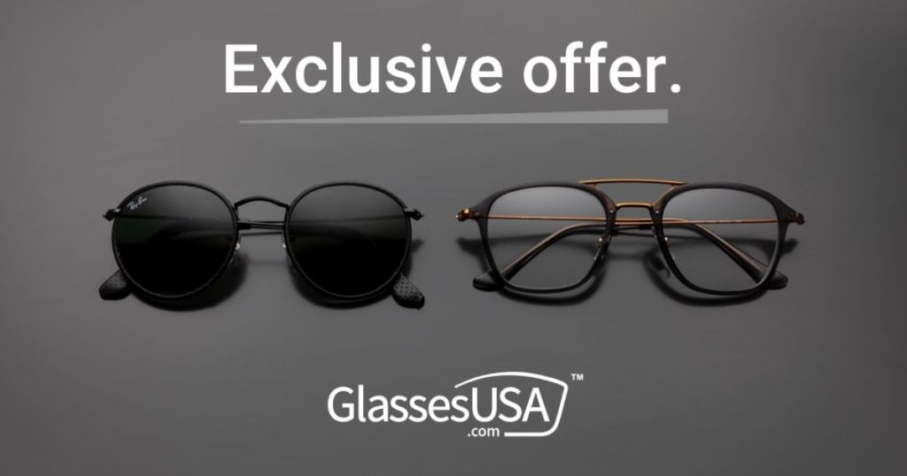 Glasses USA exclusive offer with sunglasses and glasses
