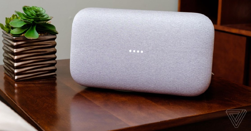 google home max smart speaker in white