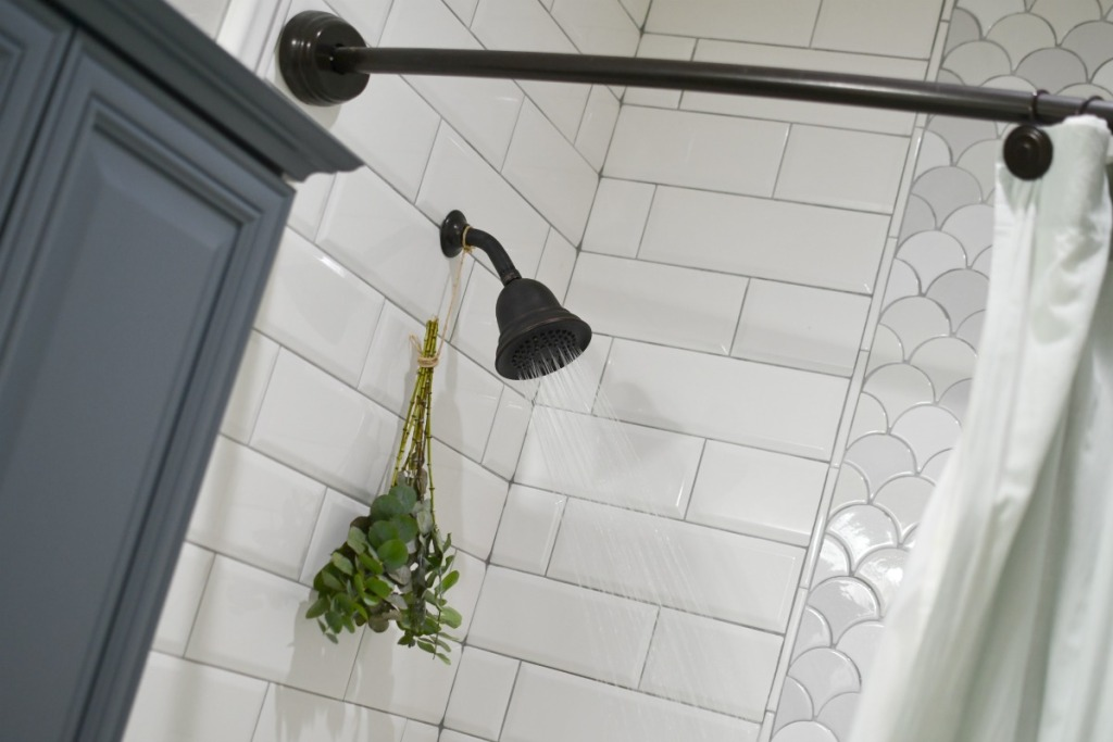 hanging eucalyptus in the shower