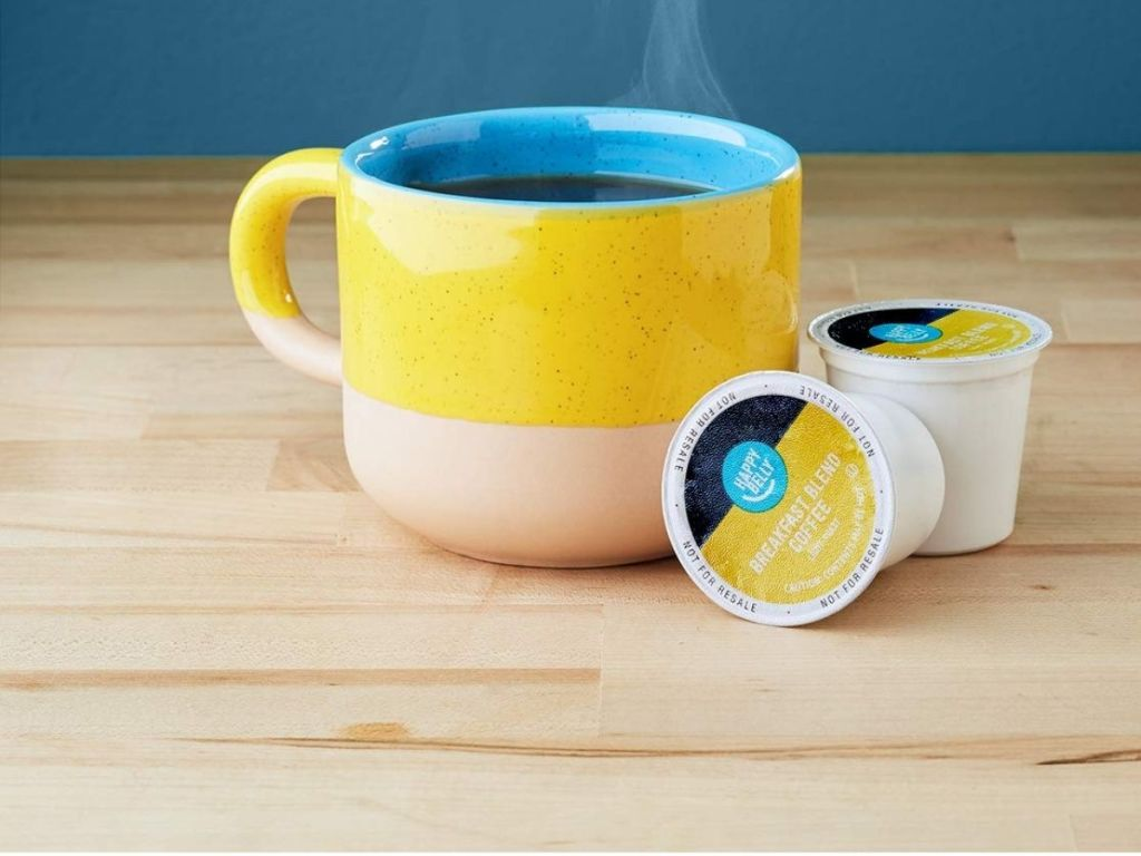 coffee cup with coffee pods