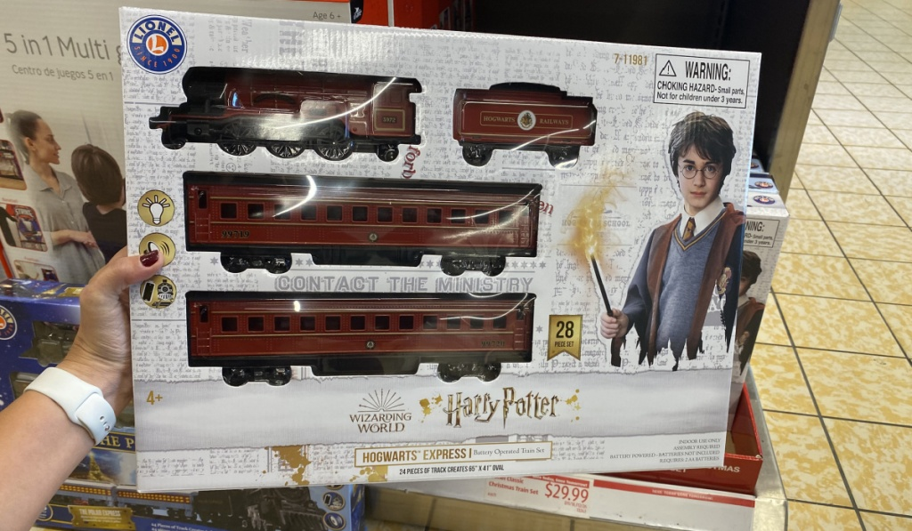 harry potter train set in store at ALDI
