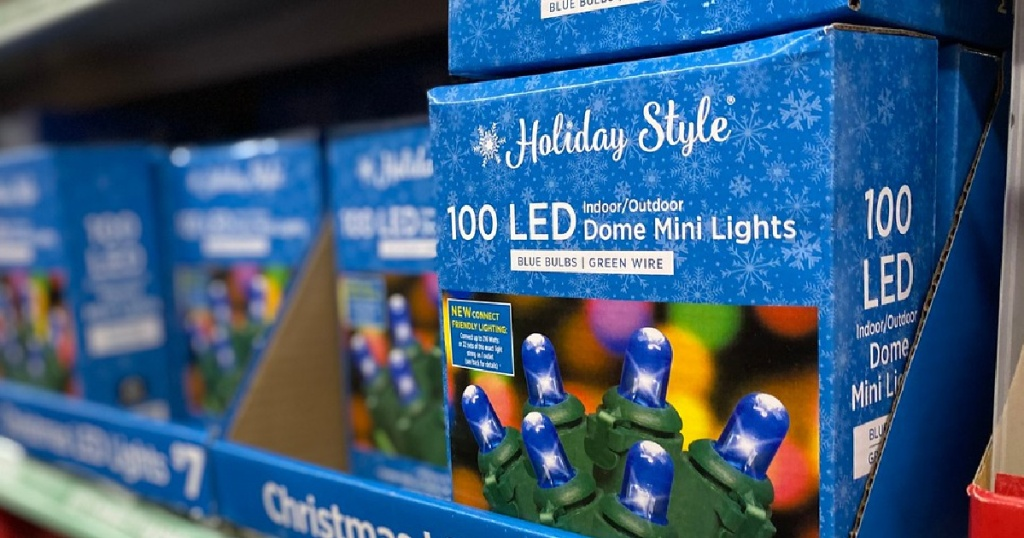 holiday style lights at dollar general