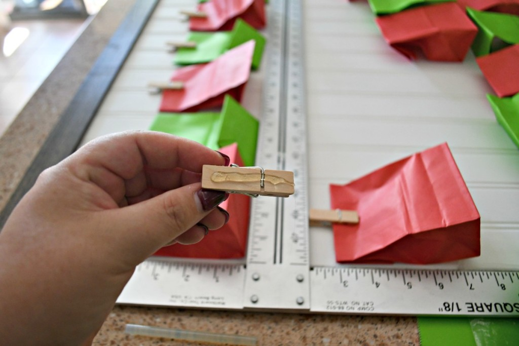holding mini clothespin with glue