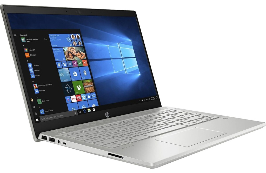 hp pavilion laptop with screen open