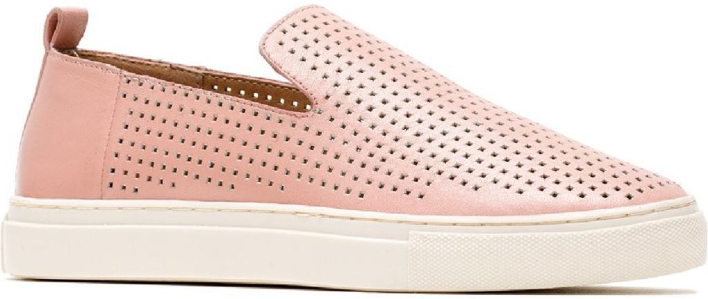 blush colored slip on shoes