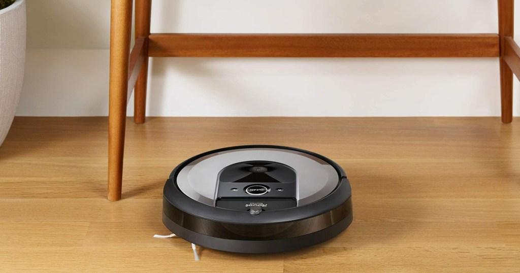 Roomba i6+ Robot on a hardwood floor