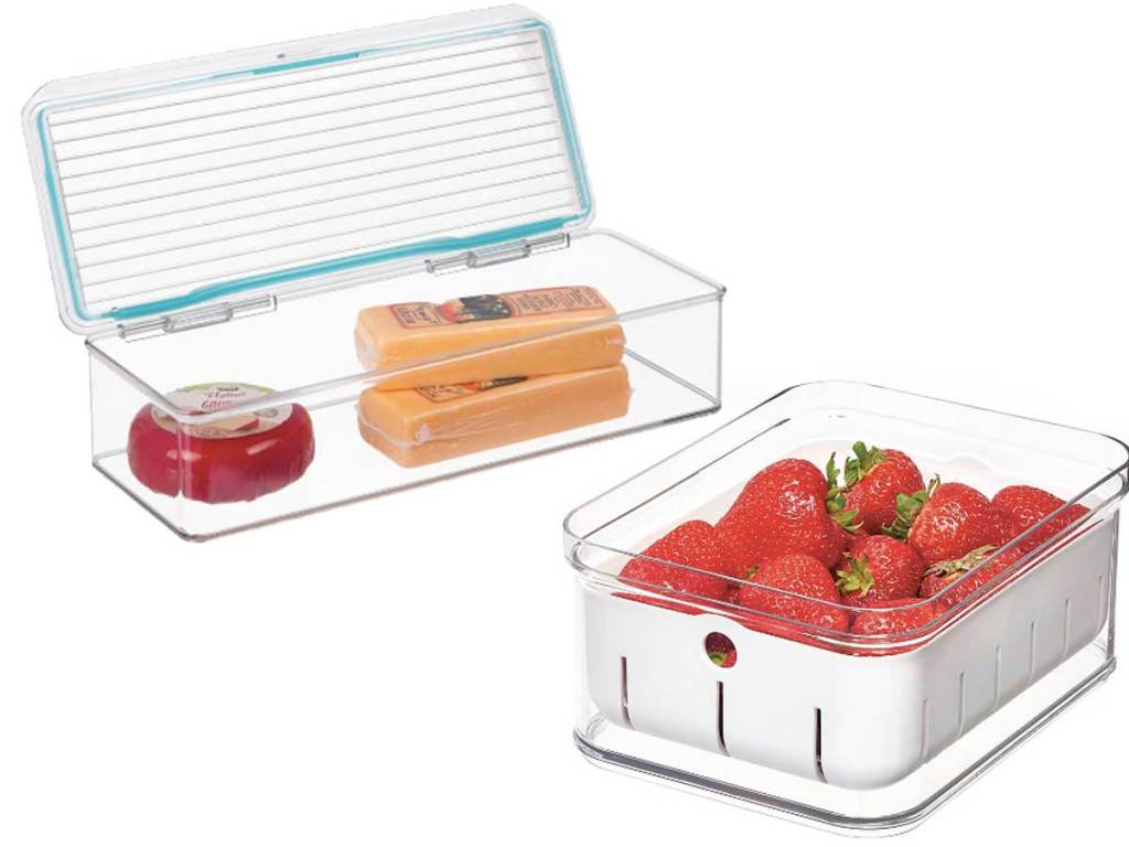 fridge containers clear with lids