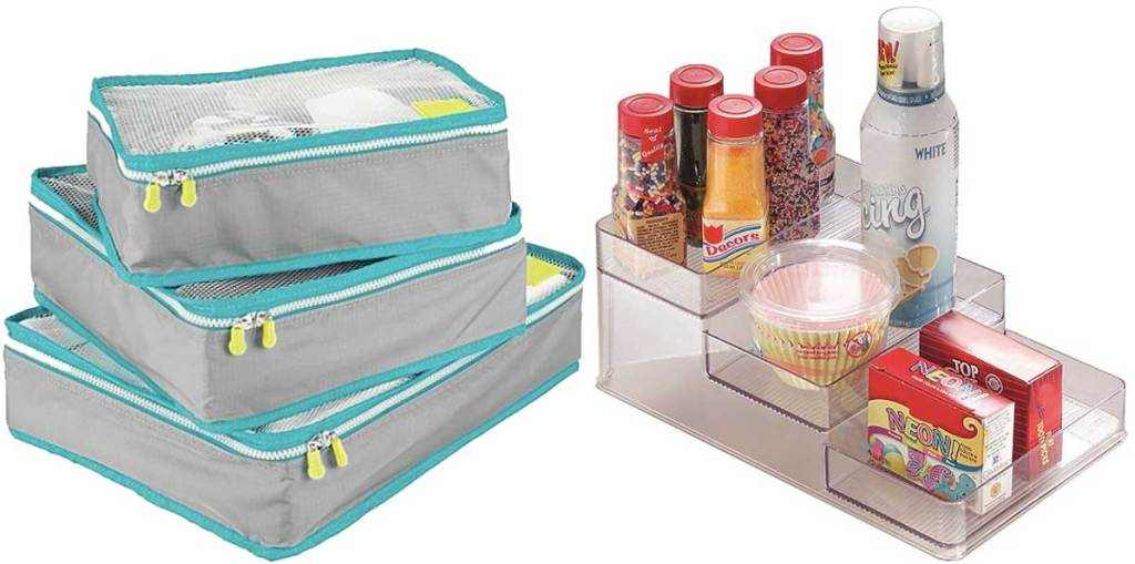packing cubes and spice rack