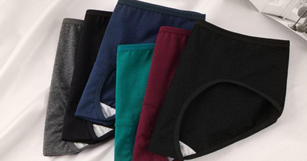 different colored underwear