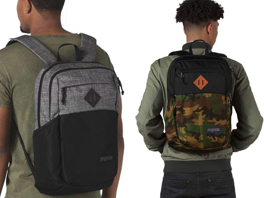 two men wearing JanSport backpacks
