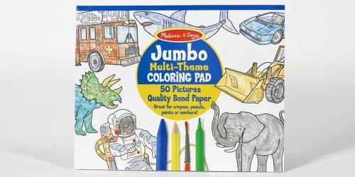 3-Pack Melissa & Doug JUMBO Coloring Pads Only $9.99 on Amazon (Regularly $15) | Just $3.33 Each