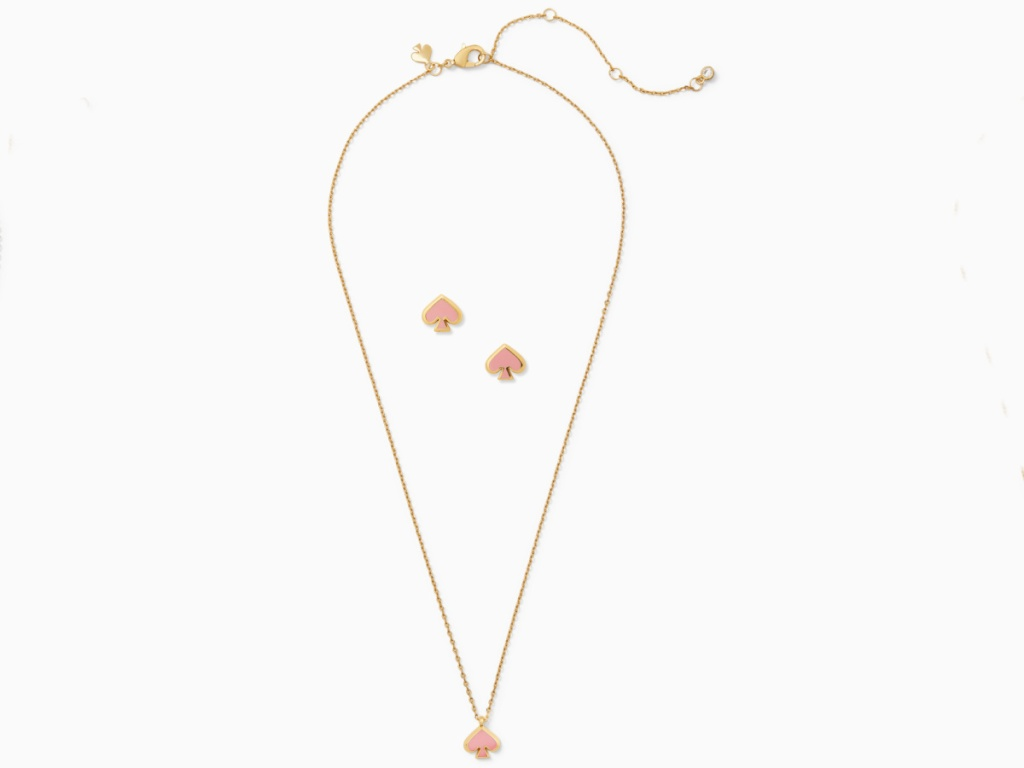 kate spade everyday spade necklace and studs