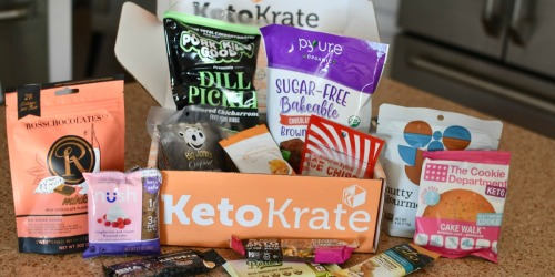 25% Off Keto Krate Boxes + Free Shipping (Includes 10 Full-Size Snacks!)