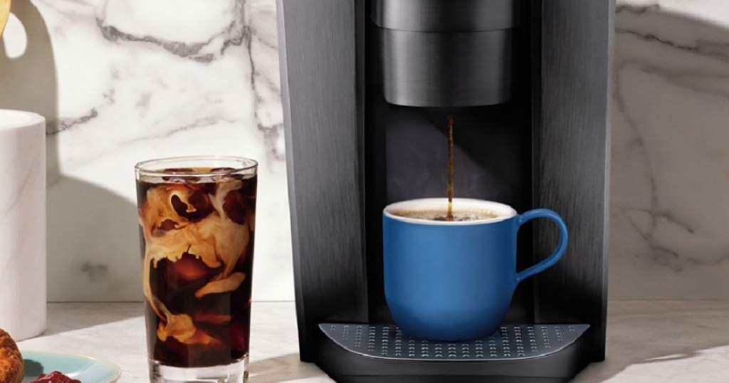 keurig k-elite brewing a cup of coffee