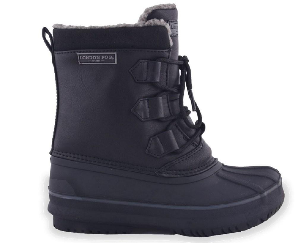 kids duck boots in black