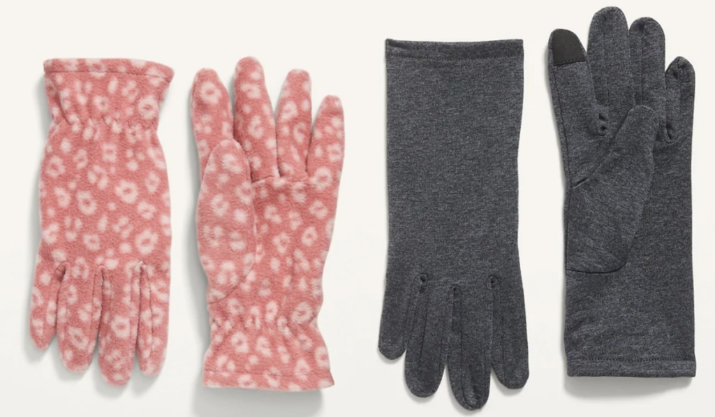 kids gloves at old navy pink and gray