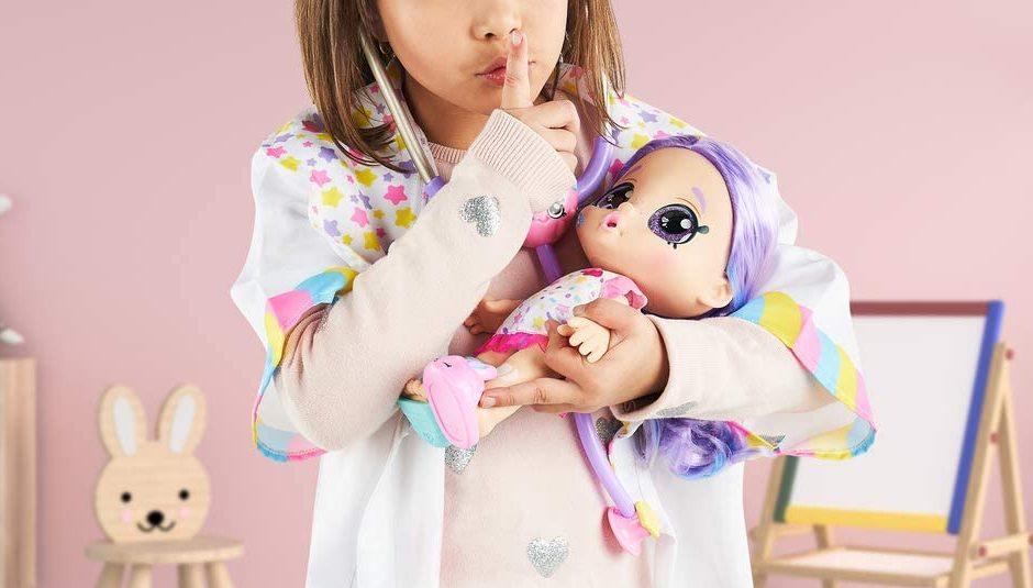 kindi kids rainbow kate doll in girls arms