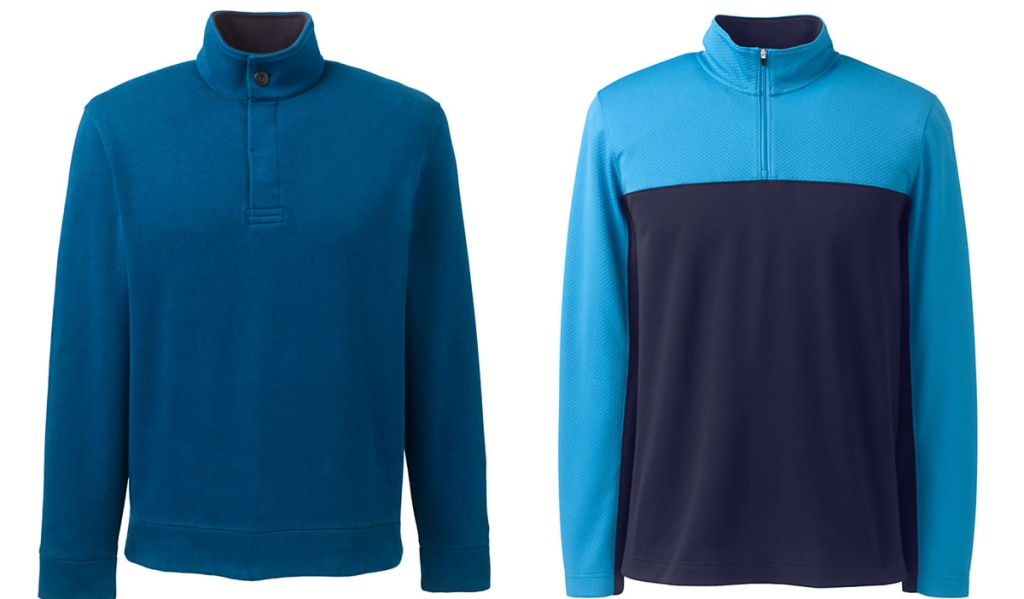 blue and blue colorblock shirt