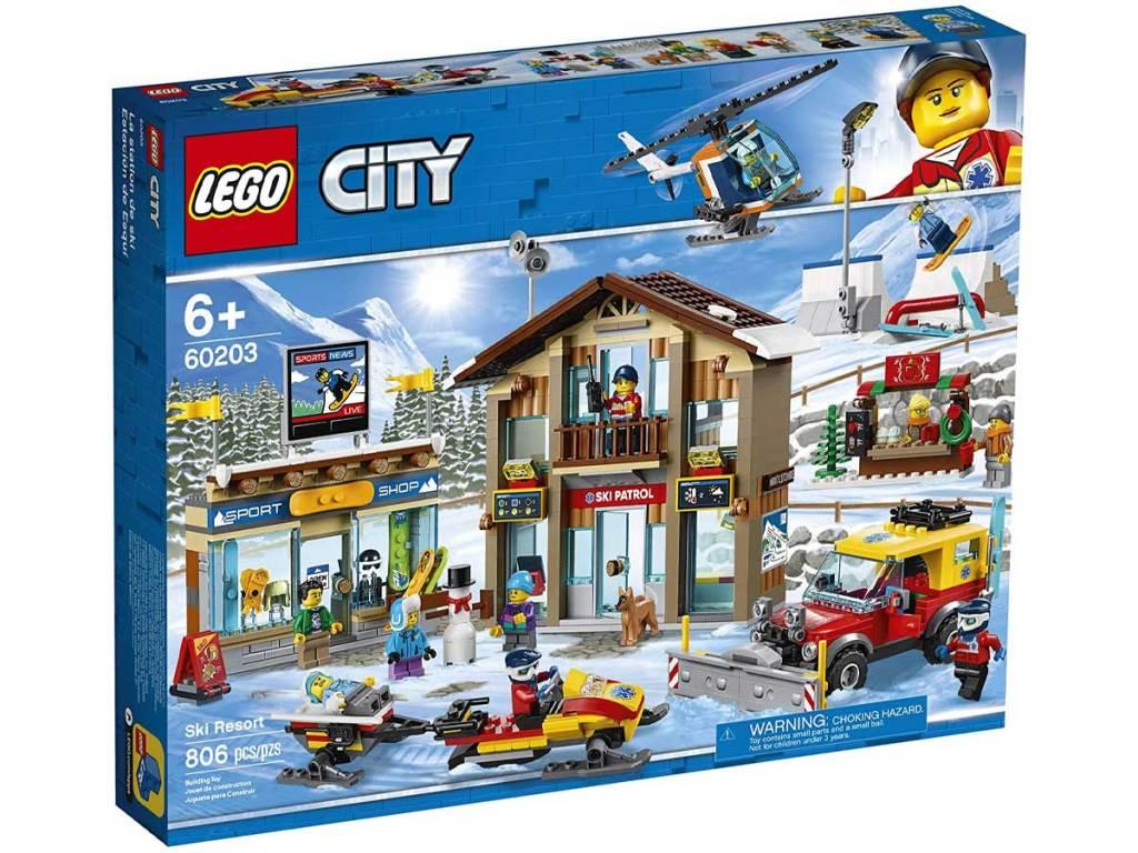 set bangunan resor ski kota lego