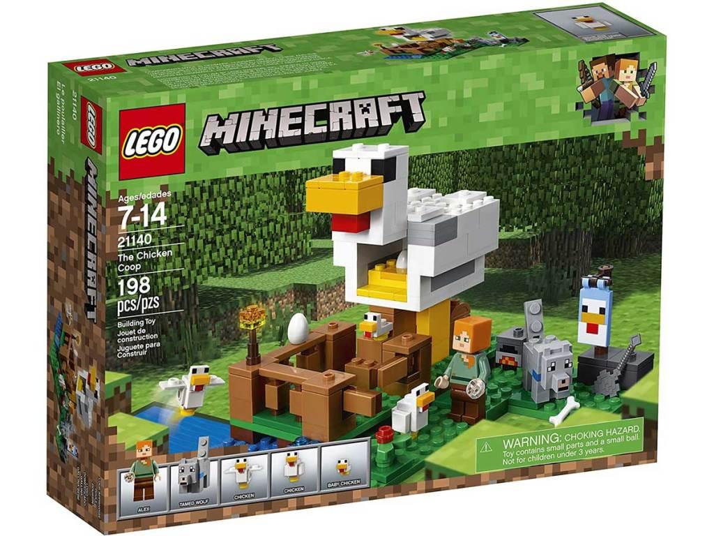 lego minecraft chicken coop set