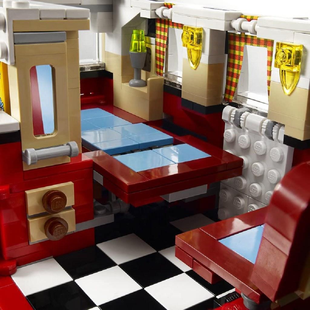 lego volkswagon inside the van