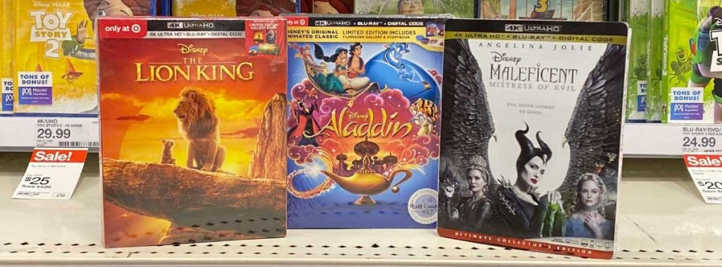 movies on shelf