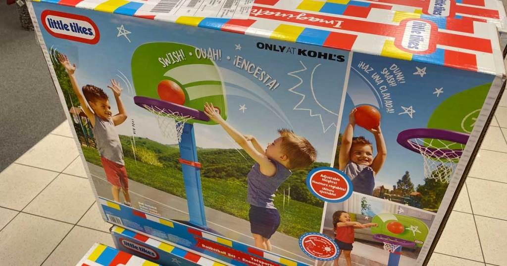 ring basket di dalam kotak di toko