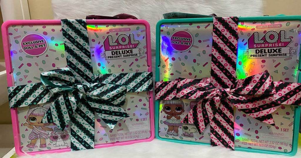 two LOL Surprise doll boxes