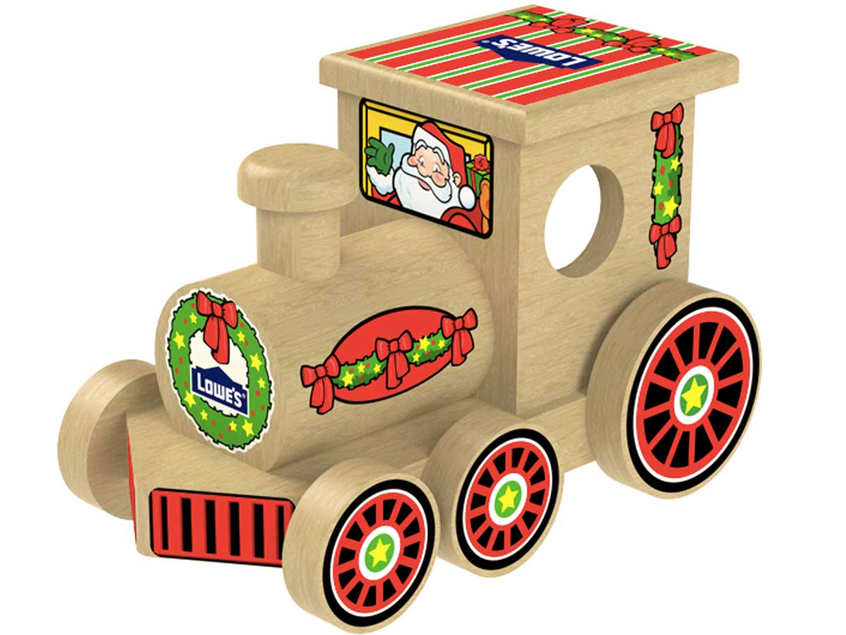 wooden holiday train