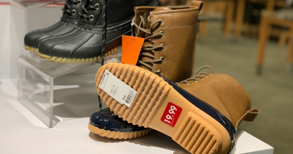 Duck boots on sale for $19.99 at Macy's